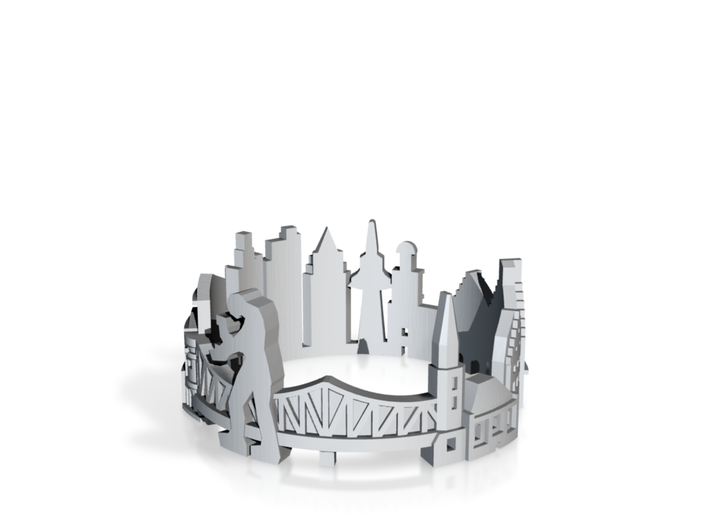 Ring Frankfurt US9 3d printed