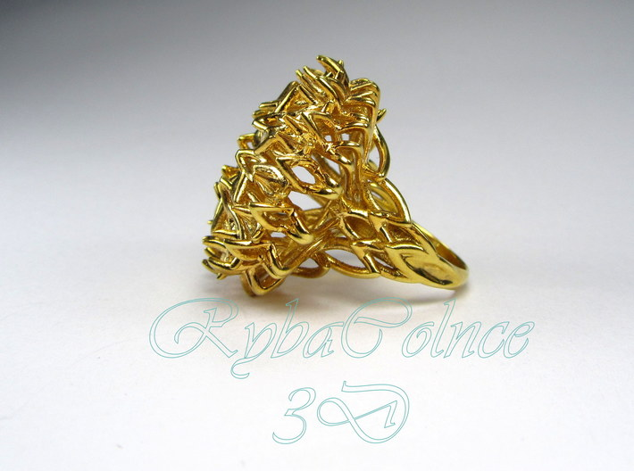 Ring The Thistle/ 14 HK size / 7 US (17.7 mm) 3d printed