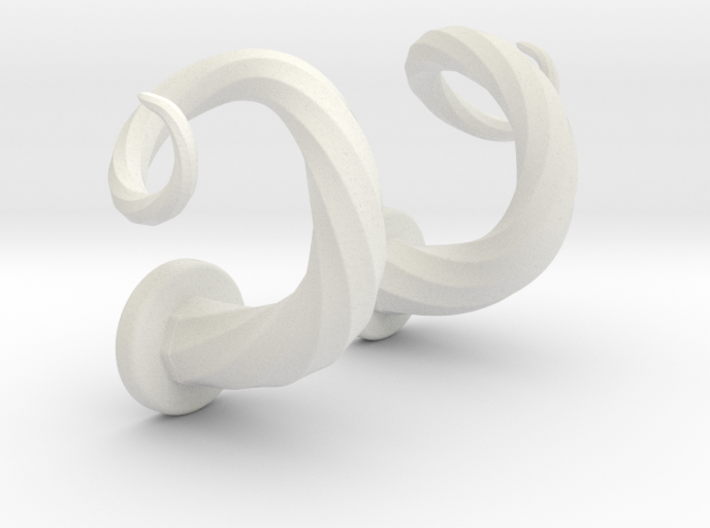 Spiral Cork-Screw Horn Set 3d printed