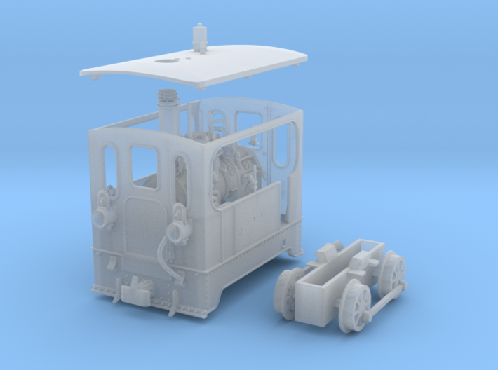1:87 Tramway Loco no.7 Backer & Rueb 3d printed