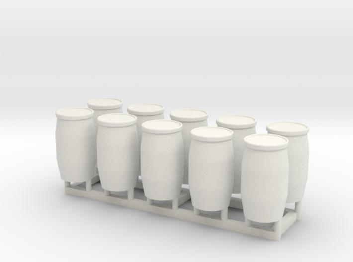 HO 10x 55 Gallon Drums 3d printed