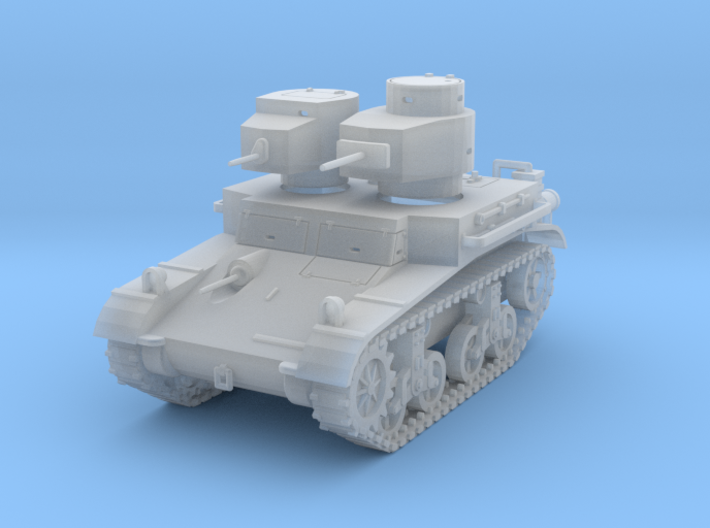 "PV42C M2A2 ""Mae West"" Light Tank (1/72) 3d printed"