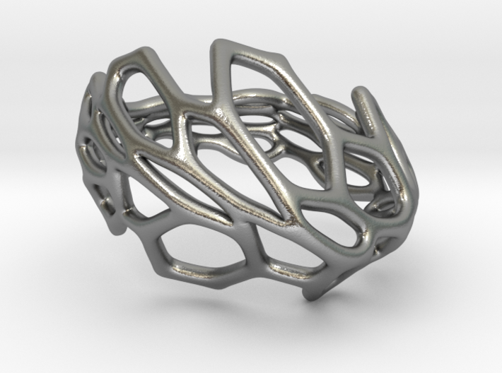Hexawave Ring-S size 3d printed