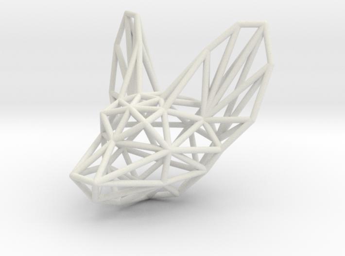 Fennec head pendant 3d printed