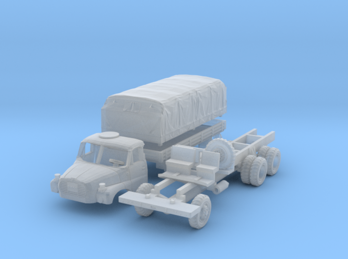 Tatra 148 VNM Pritsche mit Plane (N 1:160) 3d printed