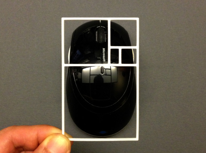 The Golden Rectangle 3d printed Is this microsoft mouse in a golden ratio? Yes!