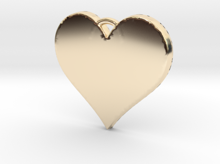 With All My Heart 3d printed
