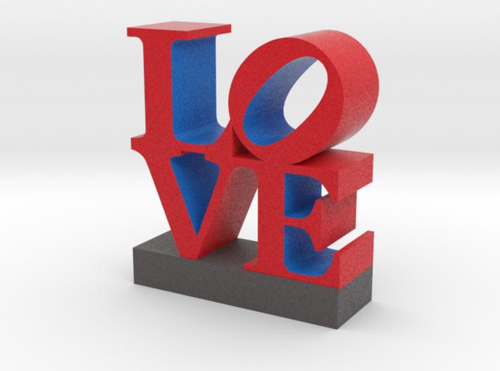 Love Sculpture in Full Color Sandstone 3d printed