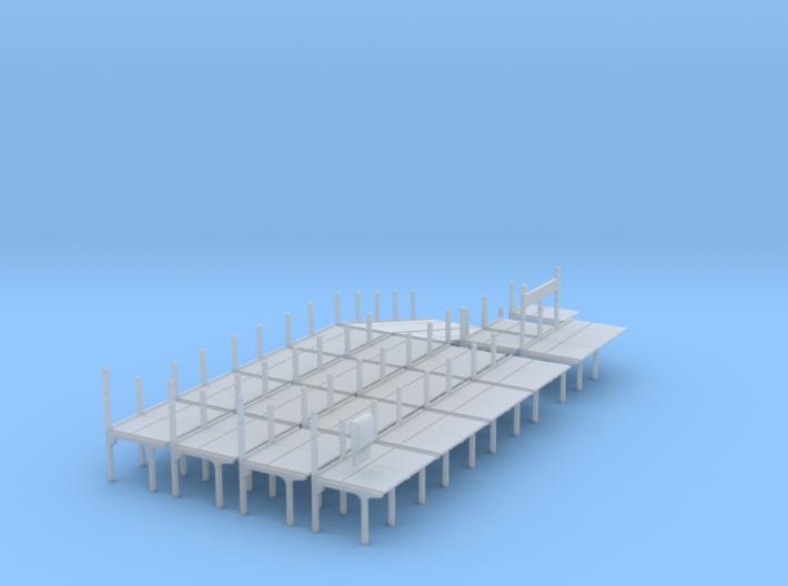 2mm/ft SR Trestle Platform Set 3d printed