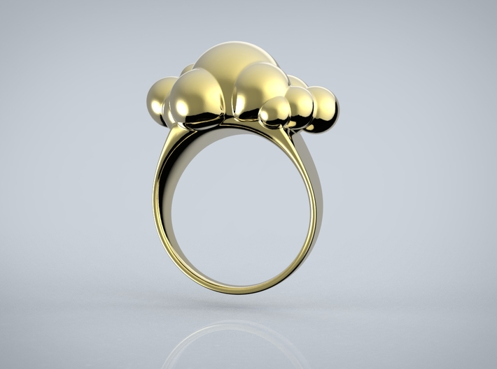 Cloud Ring 3d printed Rendered Image