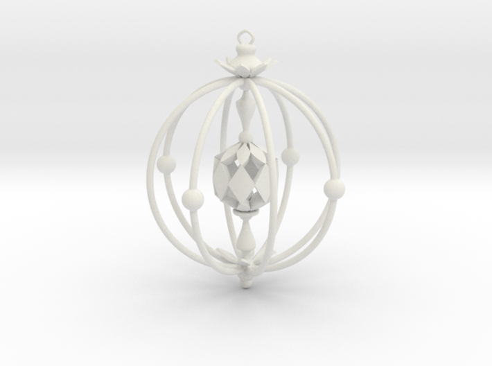 A Peachy Ornament 3d printed