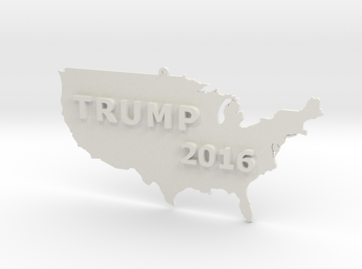 Trump 2016 USA Ornament 3d printed