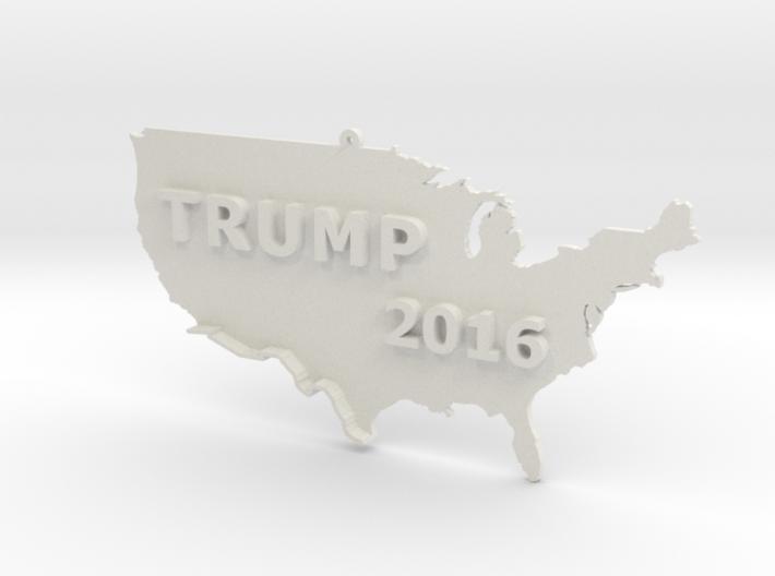 Trump 2016 USA Ornament - Border Wall 3d printed