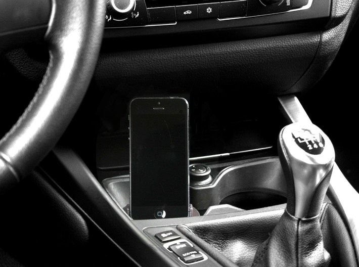 iPhone Snap in Adapter for BMW 1 and 2 series 3d printed Discreetly positioned iPhone 5 6 Adapter/Cradle/Mount/Dock special designed for BMW. Now available for a very affordable price. BMW iPhone 6 Adapter Cradle Dock Holder Mount - Fits All - Lightning