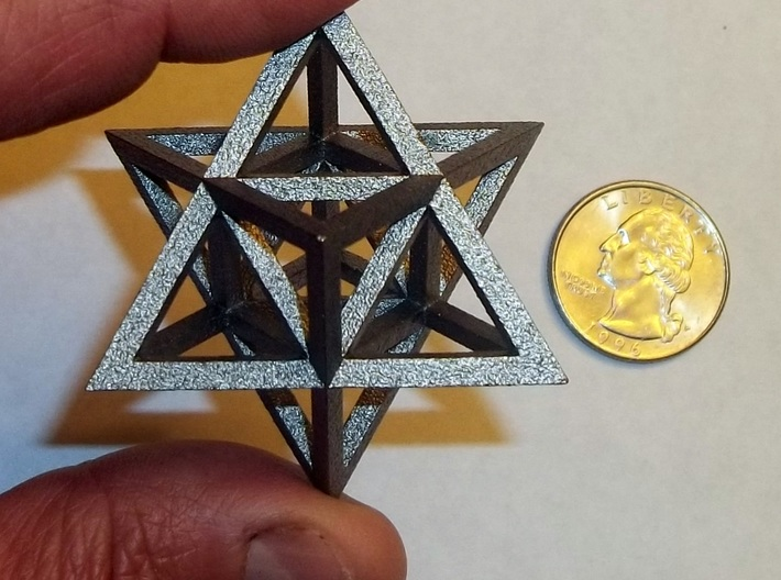 Tantric Star 3d printed Tantric Star in polished nickel steel