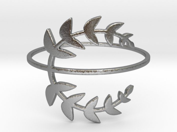 Stack-able Laurel Leaves (Size 4.75 - 11.5) 3d printed Silver Laurel Leaves are stack-able.