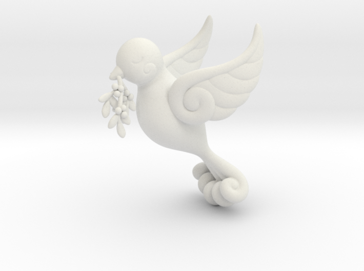 Dove Ornament 3d printed