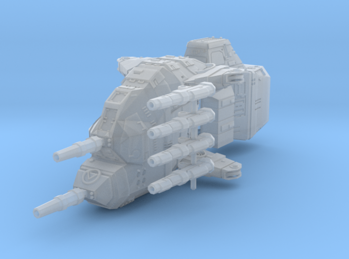 "Taiidan ""Diirvas"" Multi-Gun Corvette 3d printed"