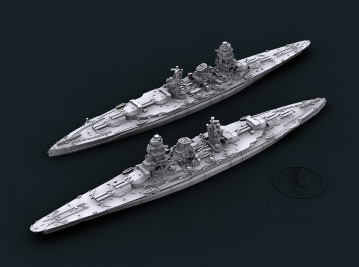 IJN BB Amagi [1942] 3d printed Computer software render