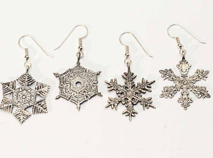Snowflake Pendant/Earring - Style C 3d printed
