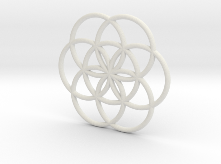 Flower of Life Seed Pendant Large 3d printed