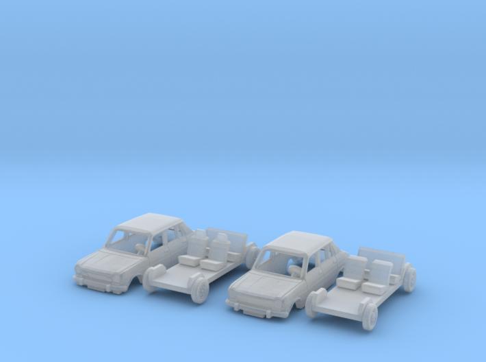 SET Simca 1100 & 1100 TI (N 1:160) 3d printed