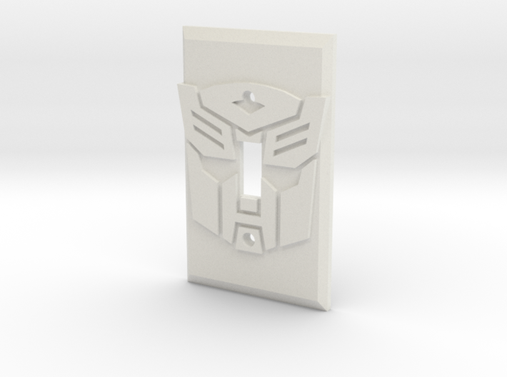 Autobot Faction Symbol Light Switch Plate 3d printed