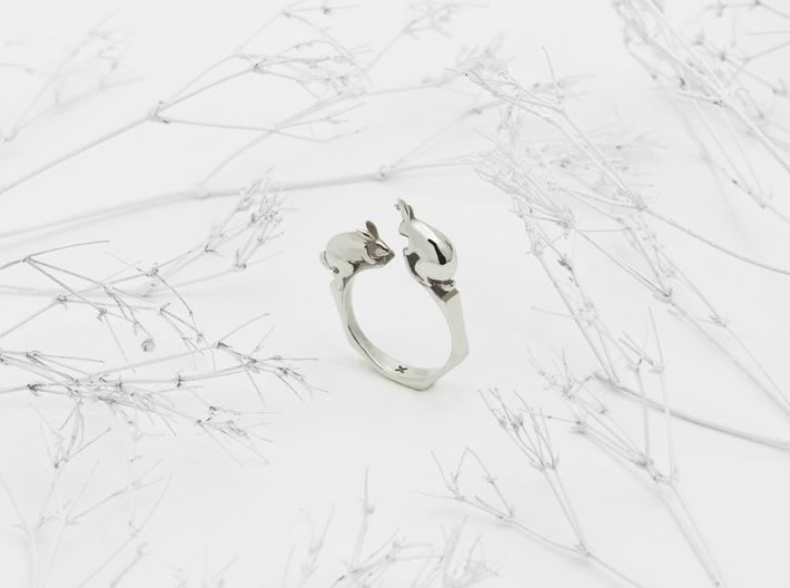 Rabbit Ring 3d printed