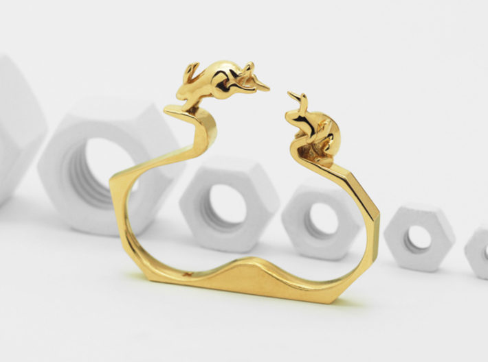 Ambition (Two Finger Ring) 3d printed