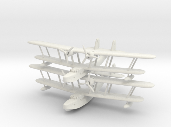 Supermarine Stranraer (2 models) 6mm 1/285 3d printed