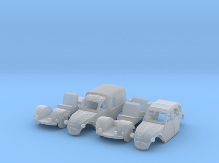 SET 2x Citroën 2CV (N 1:160) 3d printed