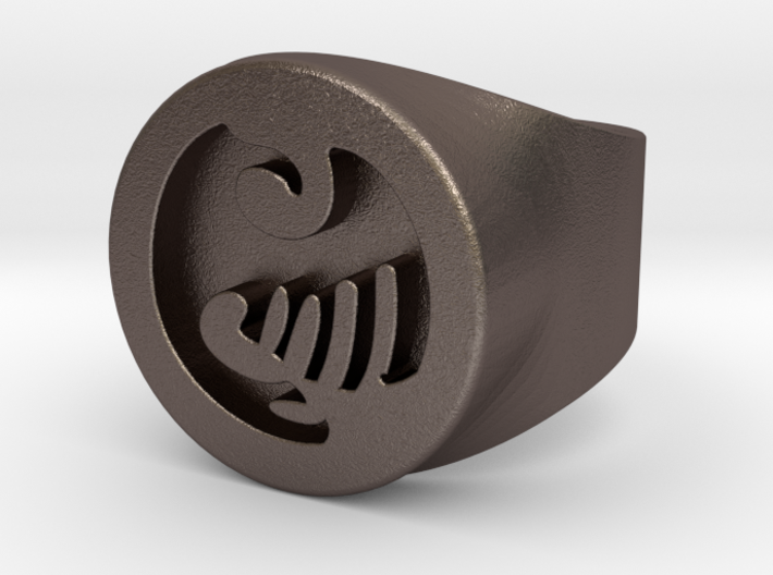 Anime Ring Male size 10.5 3d printed