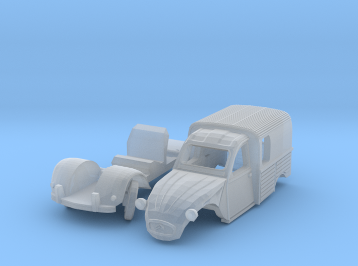 Citroën 250 - parked (N 1:160) 3d printed