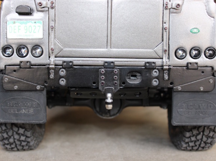 Defender Rear Bumper - All Options 3d printed Sanded, painted, and shown with more Scale 4WD products.