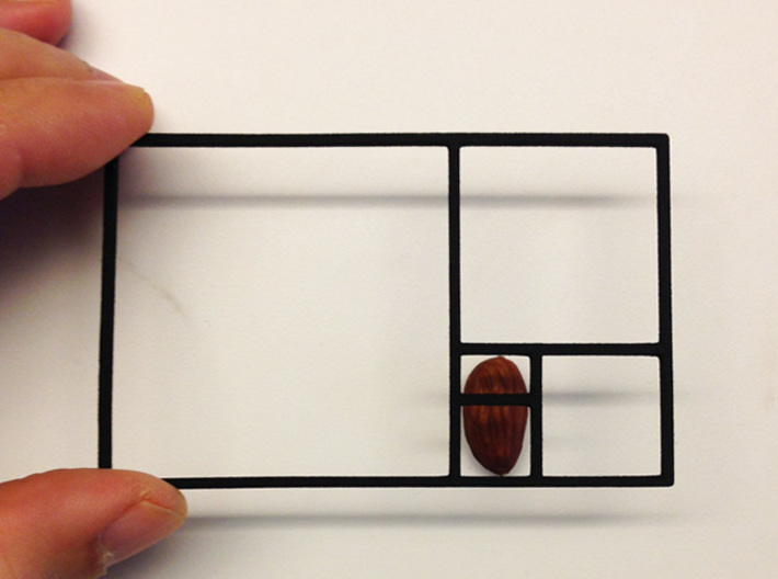 The Golden Rectangle 3d printed Almond
