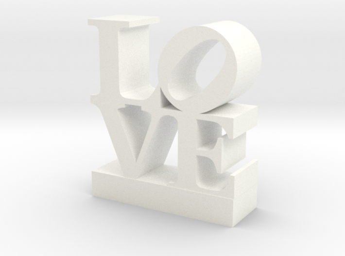 Love Sculpture - with Customizable Text 3d printed