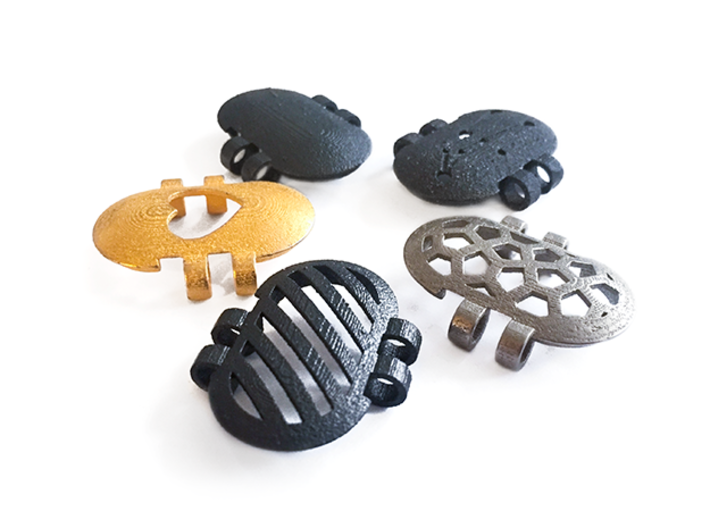 KPS Outer Piece - Stripes 3d printed KPS outer pieces are available in a range of designs and materials.