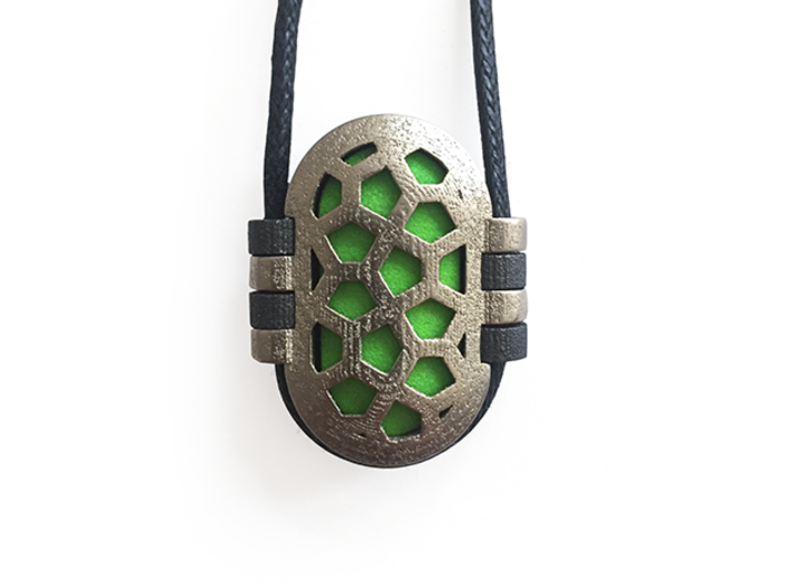 KPS Outer Piece - Blank 3d printed A complete Kapsul pendant.