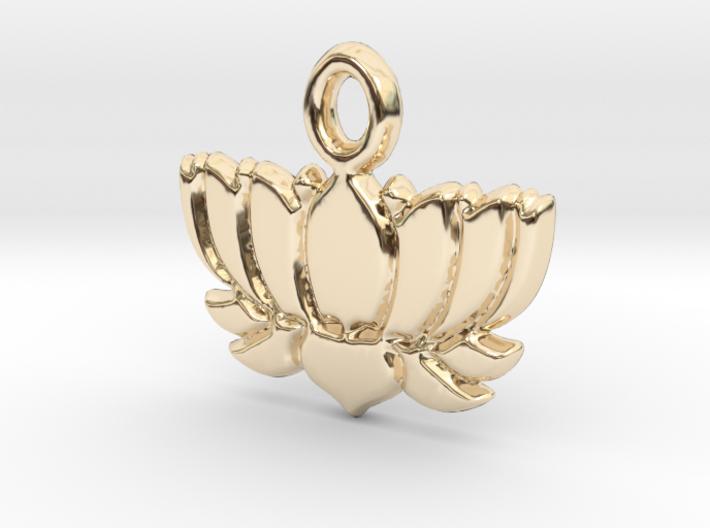 Lotus Flower Yoga Pendant 3d printed