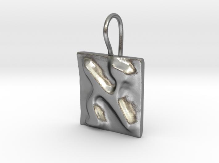 01 Alef Earring 3d printed