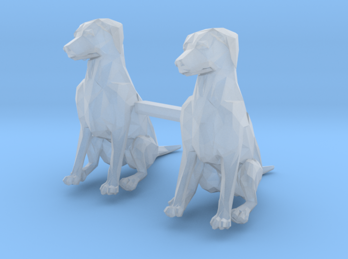 Dogs Sitting S-Scale 3d printed