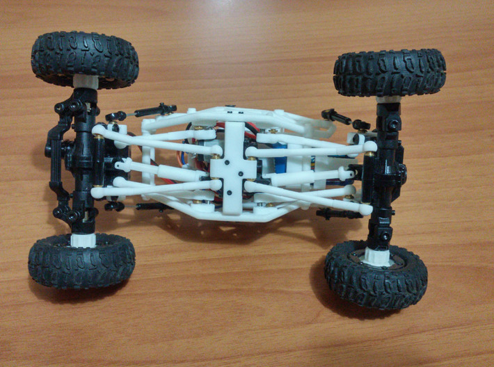 Losi Micro Rock Crawler 3D printed KIT 3d printed Losi micro rock crawler 3D printed chassis (mounted) bottom view