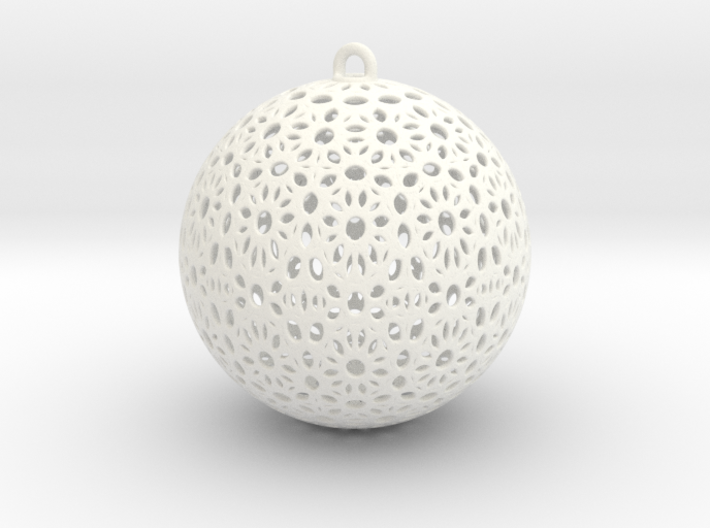 Christmas Tree Ball 58mm 3d printed