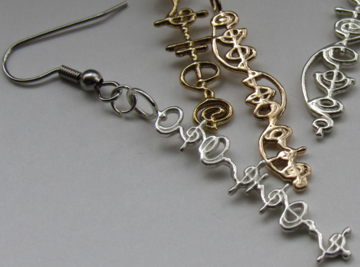 """""""T'hy'la"""" Stardust Pendant 3d printed Pictured: Polished Silver on earring hook"""