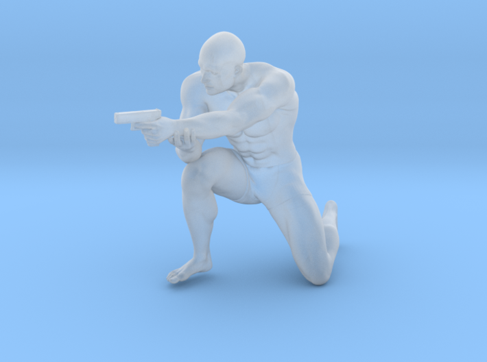 1:24 Male soldier 013 3d printed
