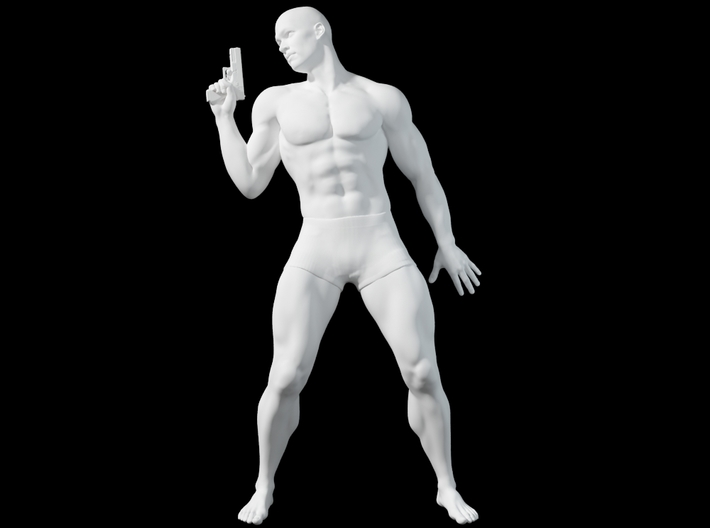 1:24 Male soldier 010 3d printed