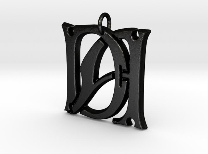 Monogram Initials DA Pendant 3d printed