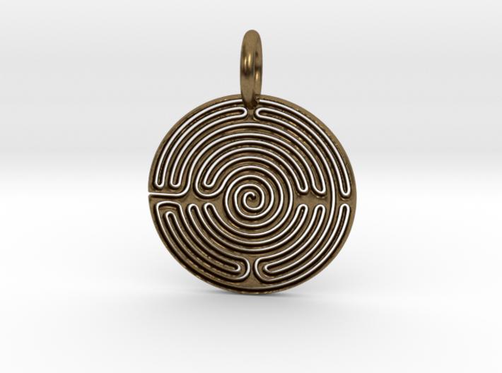 Small Labyrinth 3d printed Bronze Labyrinth