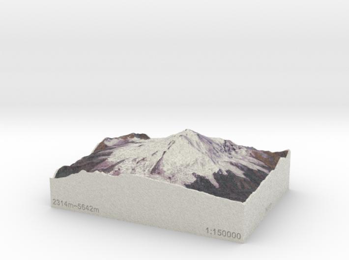 Mt. Elbrus, Russia, 1:150000 Explorer 3d printed