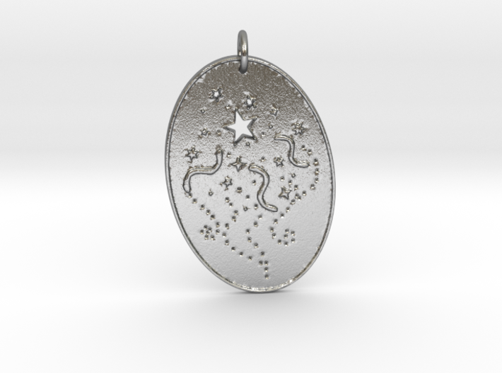 Shooting Stars 1 Pendant by Gabrielle 3d printed